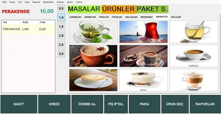 Cafeinn Restoran-Cafe Programı